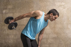 Young man lifting weights Stock Photography