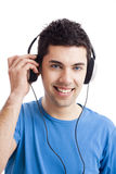 Young man listen music Royalty Free Stock Images