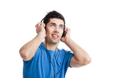 Young man listen music Royalty Free Stock Photography
