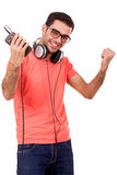Young man listen to music Royalty Free Stock Photography
