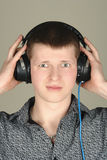 Young man listening Stock Photo