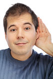 Young man listening Royalty Free Stock Photography