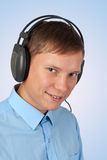 Young man listening music Royalty Free Stock Image