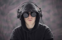 Young man listening music Royalty Free Stock Photos