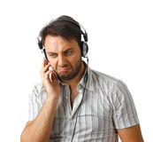 Young man listening to music Royalty Free Stock Photo