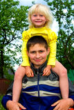 Young man and little girl Royalty Free Stock Images