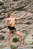 Young man in loin-cloth 2 Stock Photography