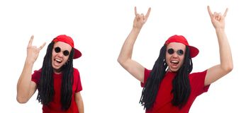 The young man with long dreads. Young man with long dreads royalty free stock image
