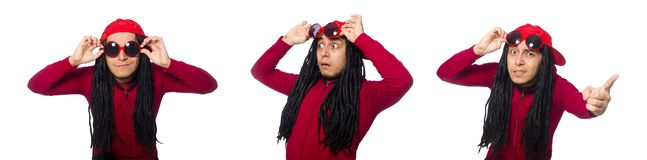 The young man with long dreads. Young man with long dreads stock photo