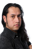 Young man with long hair Royalty Free Stock Photo