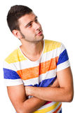 Young man looking into blank space Royalty Free Stock Photos