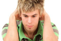Young man looking down Royalty Free Stock Photography