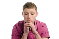Thinking, not happy, disappointed... Royalty Free Stock Photo