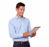 Young man looking at tablet pc Stock Image