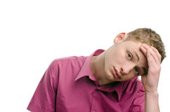 Not happy, tired, bored... Royalty Free Stock Photos