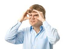 Young man looking toward future royalty free stock image