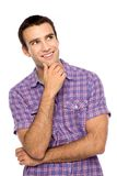 Young man looking up Stock Photography