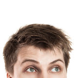 Young man looking up Royalty Free Stock Image