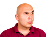 Young man looking up. To Stock Photo