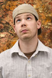 Young Man Looking Up Royalty Free Stock Photography