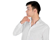 Young man looking up Royalty Free Stock Photos