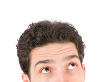 Young man looking up Stock Images