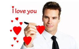 Young man in love Stock Image