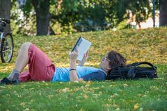 Campus life, season and relaxing Stock Photos