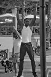 Young man made workout Royalty Free Stock Photography