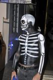 Young man make up like skeleton Royalty Free Stock Image