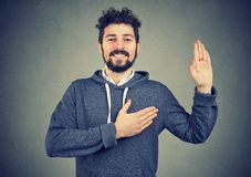 Free Young Man Making A Promise Stock Photography - 121497852