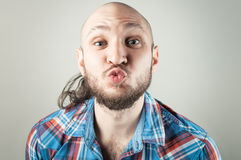 Young man making an air kiss Royalty Free Stock Photo