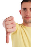 Young man making negative gesture Stock Images