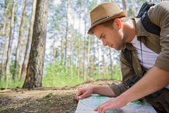 Young man making touristic journey Royalty Free Stock Images
