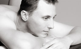 Young man massage Royalty Free Stock Photography