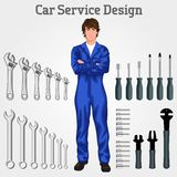 Young man mechanic Royalty Free Stock Image