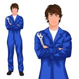 Young man mechanic Royalty Free Stock Photography