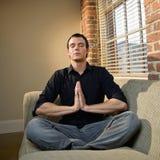 Young man meditating Royalty Free Stock Photography