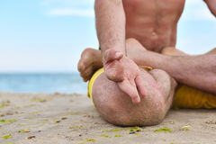 Young man in meditation Royalty Free Stock Photos