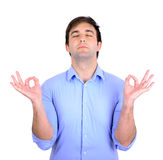 Young man in meditation zen mode Royalty Free Stock Photography