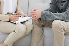 Young man in meeting with a psychologist Stock Photos