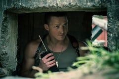 Military training stock photo