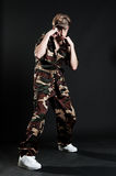 Young man in military uniform Royalty Free Stock Photography