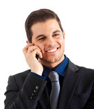 Young man mobile phone Royalty Free Stock Photo