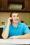 Young man with mobile phone Royalty Free Stock Photo