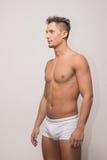 Young man model posing polaroid snapshot. Young adult man model posing polaroid snapshot body Stock Photos