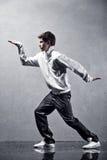 Young man modern dance. High contrast effect stock photo