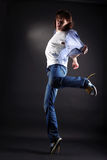 Young man modern dancer in action Stock Images
