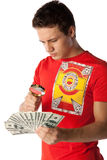 Young man with money Stock Photo