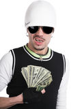 The young man with money Royalty Free Stock Image